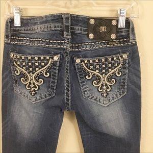 Miss Me Signature Boot Cut Blue Jeans Sz 26